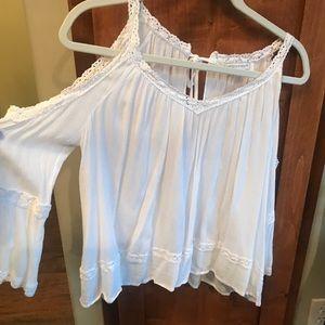 Rebecca Minkoff white cutout blouse